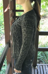 Chandail cardigan side view