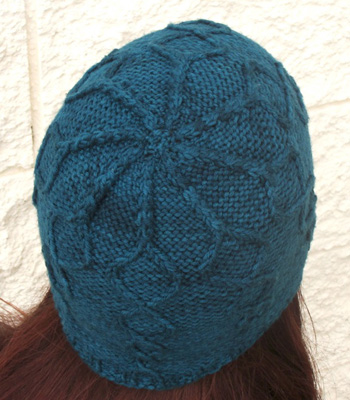 Helix hat top detail