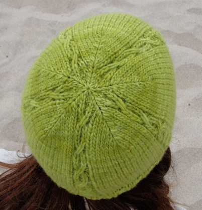 Slip hat back view