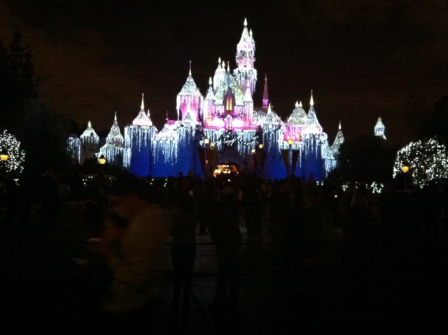 Disneyland at night