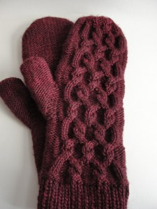 Morgandy mittens whole view