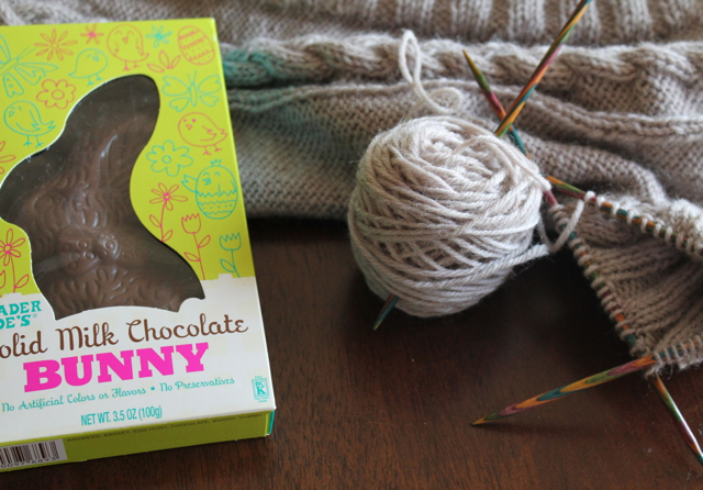 Chocolate and knitting