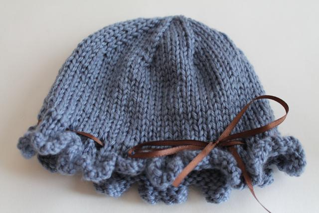 Ruffled baby hat