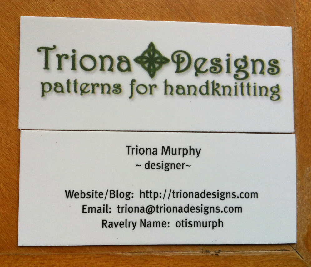 business cards front and back