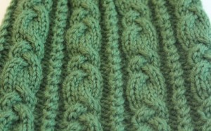 Green cable pattern