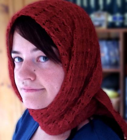 me in Francie scarf