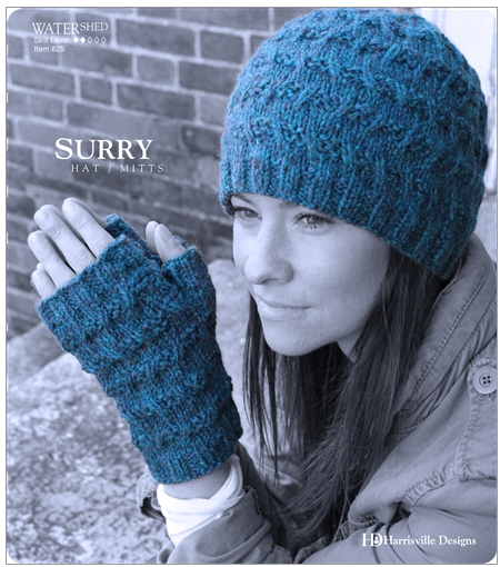 Harrisville Surry Hat and Mitts