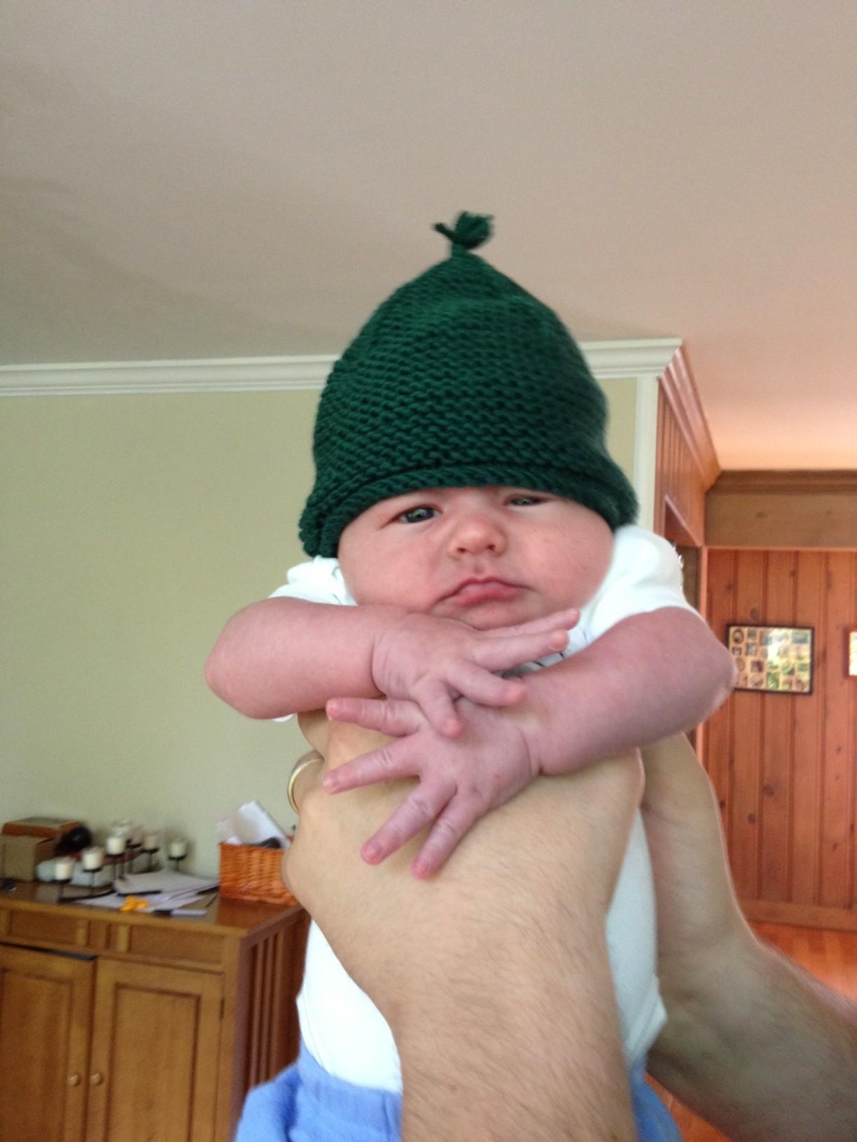 Garter Flap Hat