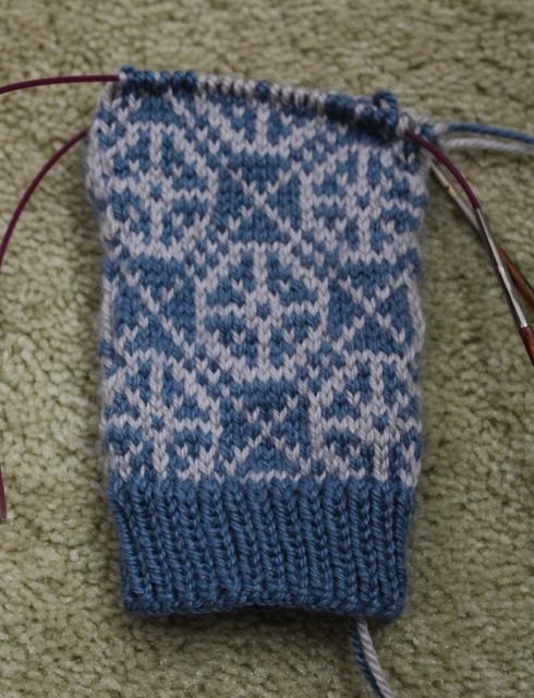 Yellowstone Mitts WIP front