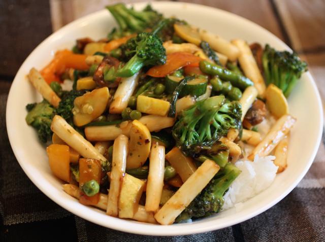 white asparagus stir fry